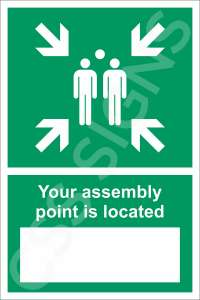 Assembly Point Location Safety Sign