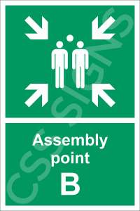 Assembly Point B Safety Sign