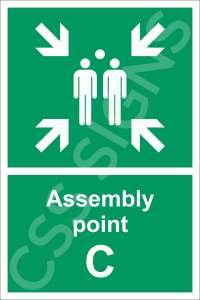 Assembly Point C Safety Sign