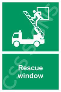 Rescue Window Safety Sign