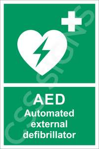 AED Automated External Defibrillator Safety Sign