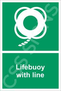 Lifebuoy with Line Safety Sign