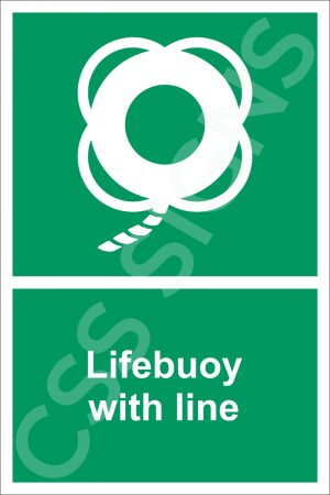 Lifebuoy with Line Sign