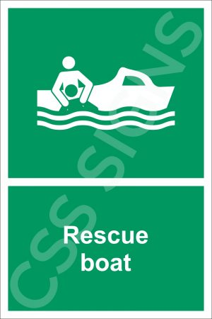 Rescue Boat Safety Sign