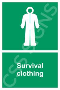Survival Clothing Safety Sign