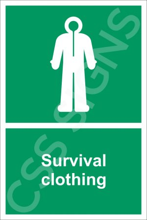 Survival Clothing Sign