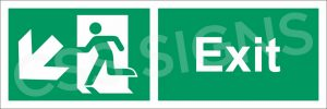 Exit SW Safety Sign