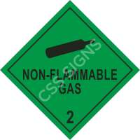 ADR Non-Flammable Gas Label