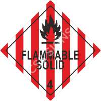 ADR Flammable Solid Label