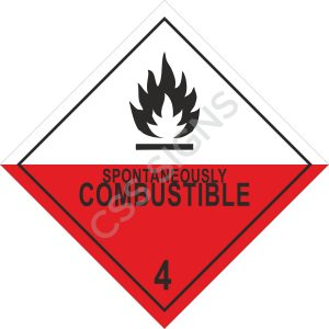 ADR Spontaneously Combustible Label