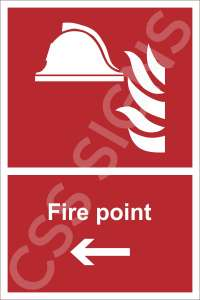 Fire Point Left Safety Sign