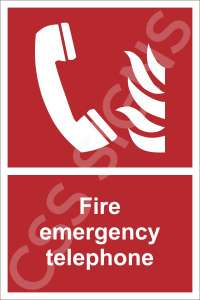 Fire Emergency Telephone Safety Sign