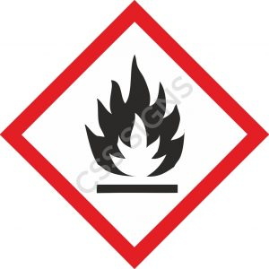 GHS Flammable Safety Label