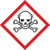 GHS Toxic Safety Label