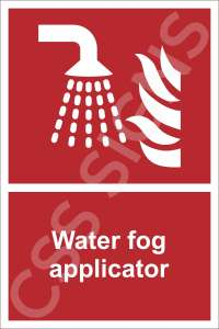 Water Fog Applicator Safety Sign