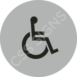 Accessible Symbol Safety Sign
