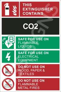 CO2 Fire Extinguisher Safety Label