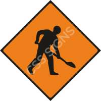 WK001 - Roadworks Ahead Safety Sign
