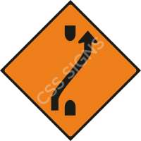 WK010 - One-Lane Crossover (Out) Safety Sign