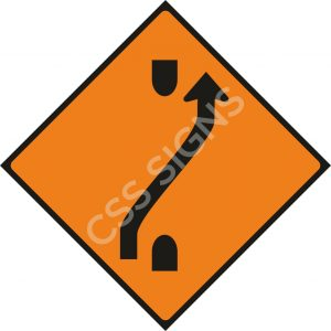 WK010 - One-Lane Crossover (Out) Sign