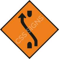 WK011 - One-Lane Crossover (Back) Safety Sign