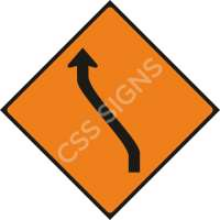 WK012 - Move Left (One Lane) Safety Sign