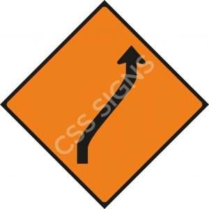 WK013 - Move Right (One Lane) Sign