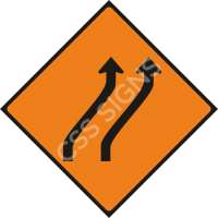Move Right (Two Lanes) Safety Sign
