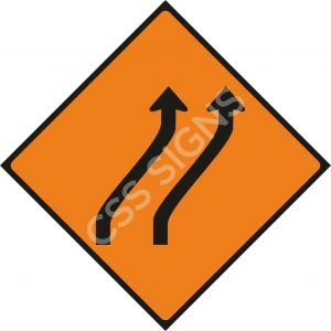 WK015 - Move Right (Two Lanes) Sign