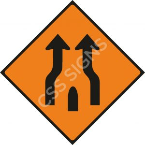 WK017 - End of Obstruction Between Lanes Sign