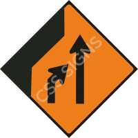Merge Right Safety Sign