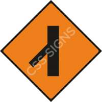 Merging Traffic from Left Safety Sign