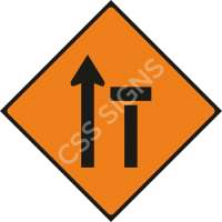 Lane 2 of 2 Closed Safety Sign
