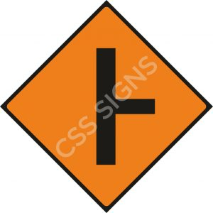 Side Road on Right Safety Sign