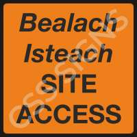 Site Access Safety Sign