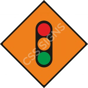 WK060 - Temporary Traffic Signals Sign