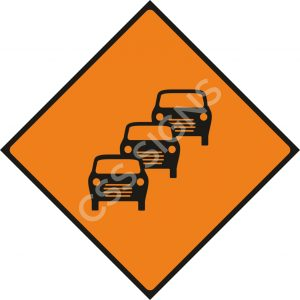 Queues Likely Safety Sign