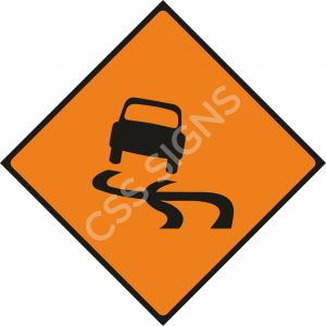 WK072 - Slippery Road Sign
