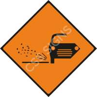 Loose Chippings Safety Sign