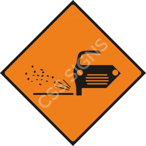WK073 - Loose Chippings Sign
