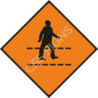 Temporary Pedestrian Crossing Safety Sign