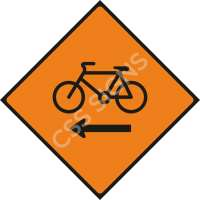 Cyclists Keep Left Safety Sign