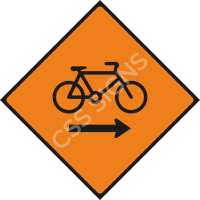 Cyclists Keep Right Safety Sign