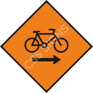 WK085 - Cyclists Keep Right Sign
