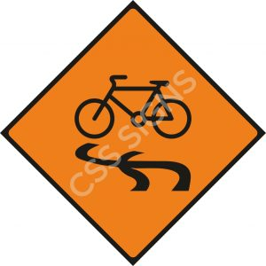 WK087 - Slippery for Cyclists Sign