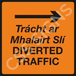 Diverted Traffic Right Safety Sign