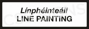 P082 - Line Painting Sign