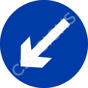 RUS001 - Keep Left Sign
