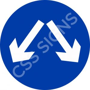RUS003 - Pass Either Side Sign