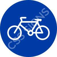 Pedal Cycles Only Safety Sign